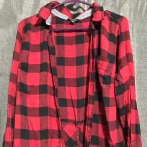 Lucky Brand Large Plaid Button Up